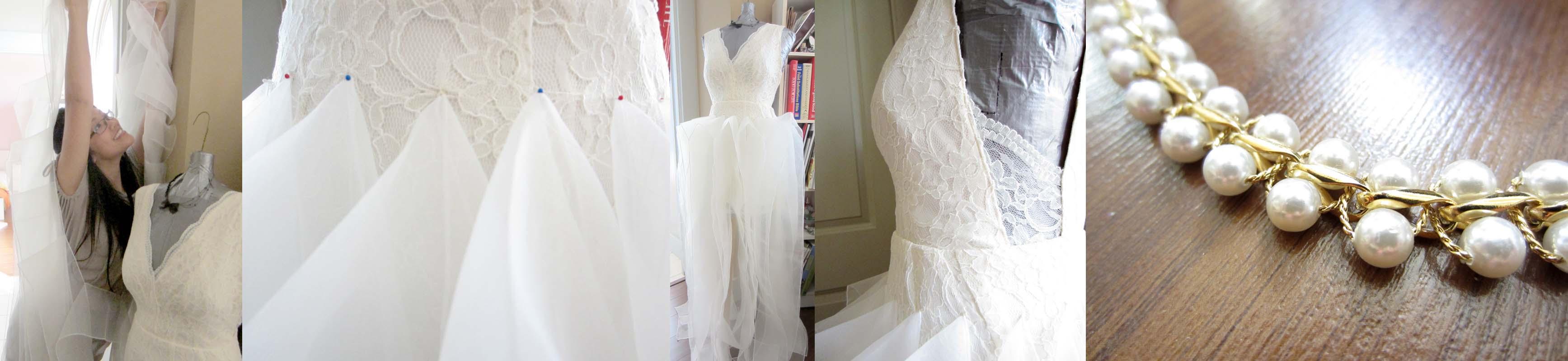 DIY wedding gown